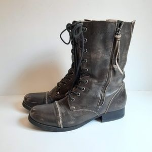 Aldo Brown Leather Broken In Rustic Boots
